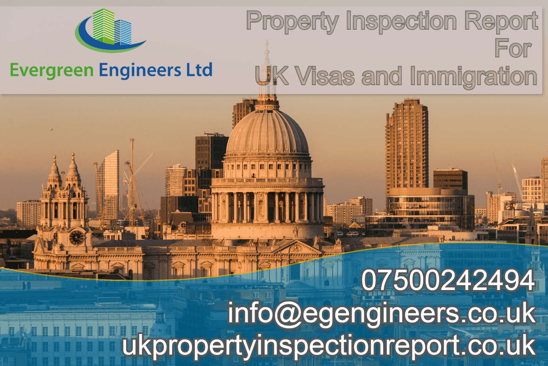 Property inspection Report North London for UK visas and Immigration